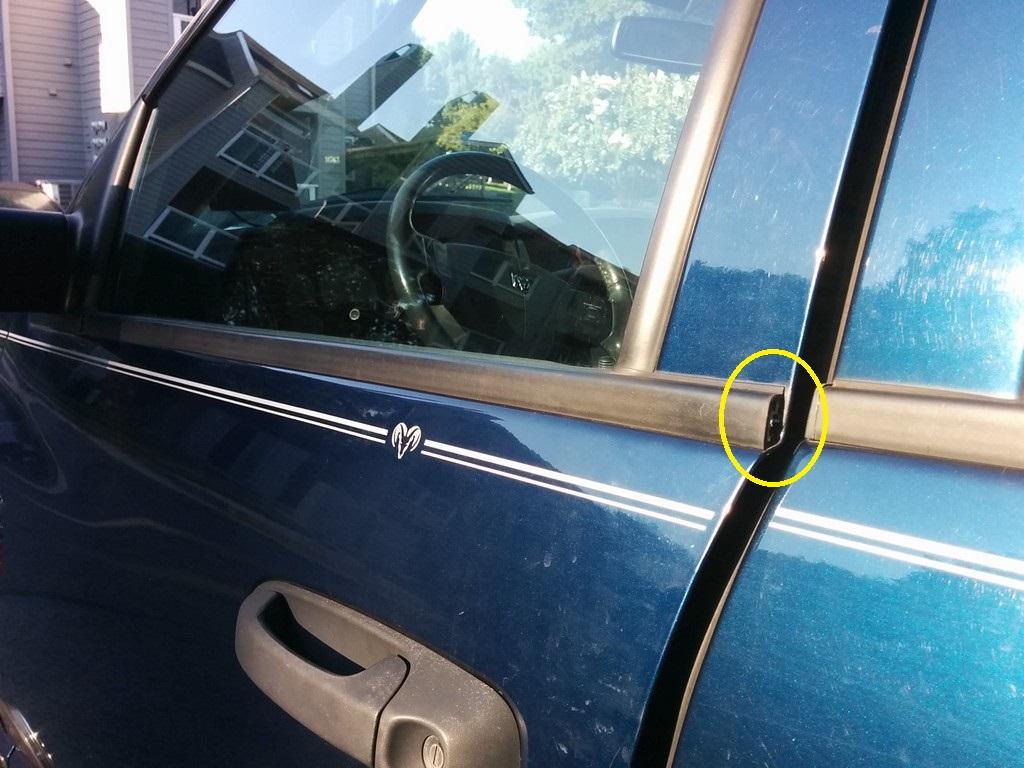 Front door window sill cap/plug? - Dodge Cummins Diesel Forum